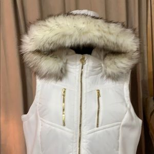 Michael Kors puffy Parka w/detachable hood